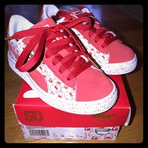 05dece76e366 Toddler girl size 12 Puma Hello Kitty Sneakers New. NWT